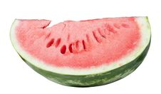 Free Slice Of Water Melon On A White Background Royalty Free Stock Photos - 17831108