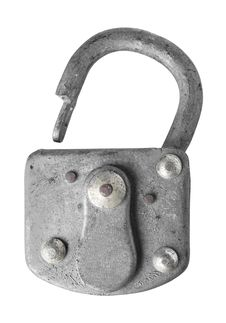 Free Old Padlock Isolated On White Background. Royalty Free Stock Photos - 17831118