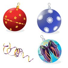 New Year S Spheres Royalty Free Stock Photography