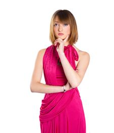 Free Lady In A Pink Dress Stock Photos - 17831463