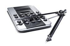 Free Pocket Calculator And Circle Stock Photo - 17831740