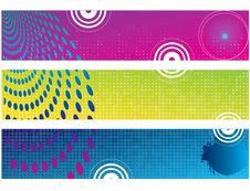 Free Abstract Color Banner Illustration Royalty Free Stock Image - 17831746