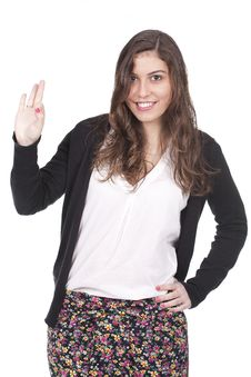 Free Woman Giving Ok Hand Sign Royalty Free Stock Photography - 17831797