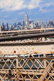 Free New York Seen From Bridge Over The Hudson Stock Image - 17831981