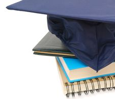 Free Books And Hat Graduation Royalty Free Stock Photos - 17832638