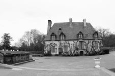 Black And White Estate Chancellerie At Chenonceau Royalty Free Stock Photography