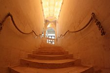 Interior Stairway At Chenonceau Castle In France Royalty Free Stock Photo