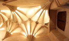 Vaulted Ceiling At Chateau De Chenonceau France Royalty Free Stock Image