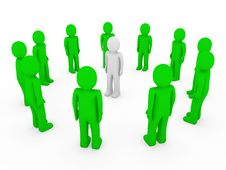 Free 3d Human Circle Green White Stock Image - 17833281