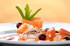 Free Fruit Pavlova Dessert Royalty Free Stock Photo - 17833285