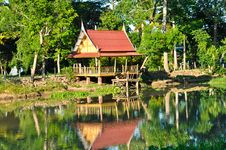 Free Shelter Wayside And River In Thai Tradition Stock Photography - 17833422