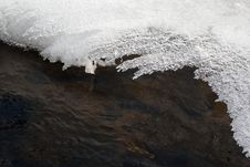 Free Spring Background With A Frozen River Stock Image - 17834141