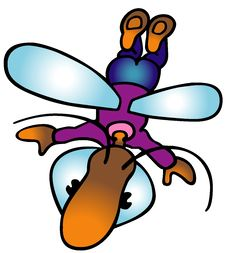 Free Flying Bug Royalty Free Stock Photos - 17834308