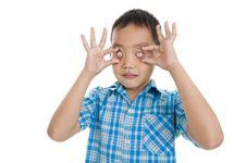 Eyes Without Pupils Stock Image