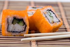 Free Traditional Japanese Sushi And Rolls Royalty Free Stock Photography - 17834377