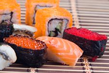Free Traditional Japanese Sushi And Rolls Royalty Free Stock Photography - 17834387
