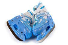 Blue Children S  Skates Stock Image