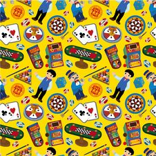 Free Seamless Casino Pattern Stock Photos - 17834523