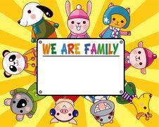 Free Cartoon Animal Card Stock Photos - 17834693
