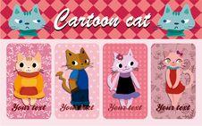 Cartoon Cat Card Royalty Free Stock Image