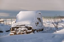 Free Car In A Snow Captivity Royalty Free Stock Images - 17834959