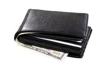Free Black Leather Wallet Royalty Free Stock Photos - 17835848