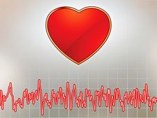 Heart And Heartbeat Symbol. EPS 8 Royalty Free Stock Photos
