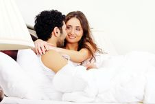 Free Young Couple In Bed Royalty Free Stock Photography - 17836147