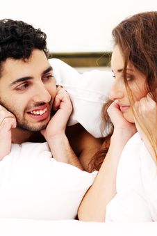 Free Young Couple In Bed Stock Photo - 17836280
