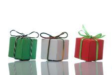 Free Three Colourful Present Boxes Stock Photo - 17836750