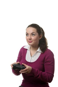 Free Woman Play Wideogame Stock Photo - 17837200