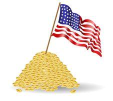 Amerikan Flag Money Royalty Free Stock Image