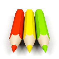 Free Colored Pencils. Stock Photo - 17837610