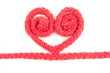 Free Red Rope Heart Isolated Royalty Free Stock Photo - 17837685