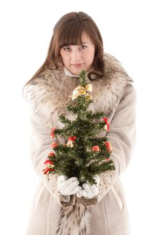 Free Girl In Fur Coat Royalty Free Stock Image - 17837706