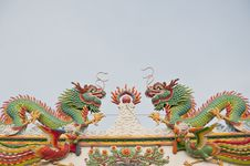 Free Twin Chinese Dragon Stock Photos - 17838163