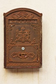 Free Antique Metal Mail Box Royalty Free Stock Images - 17838629