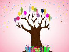 Free Birthday Card Royalty Free Stock Photo - 17839165