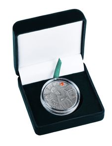 Free Silver Coin In A Case Royalty Free Stock Image - 17839526