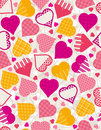 Free Wrapping Paper With  Hearts, Royalty Free Stock Photo - 17844385
