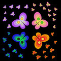 Free Butterflies On Black Royalty Free Stock Image - 17845656