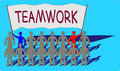 Free Teamwork With A Big Message Royalty Free Stock Photography - 17847037
