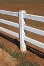 Free White Pole Fence Stock Image - 17849281