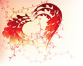 Free Abstract Floral Valentine Hearts Stock Images - 17849434