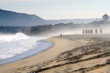 Horseback Riding And The Ocean Royalty Free Stock Photo
