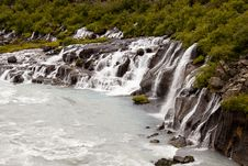 Free Waterfall Hraunfossar - Iceland Stock Image - 17840231