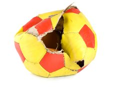 Free Old Ragged Soccer Stock Images - 17840464