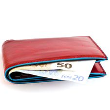 Free Red Wallet Royalty Free Stock Photography - 17840577