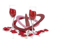 Cinnamon Hearts And Valentines Stock Photo