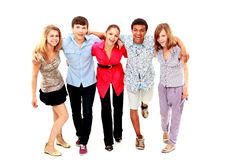 Free Cheerful Group Of Young People Royalty Free Stock Photos - 17842328